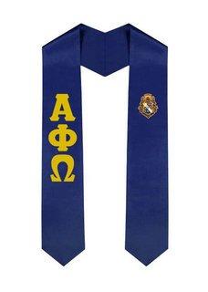 Alpha Phi Omega Greek Lettered Graduation Sash Stole