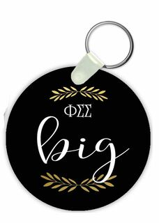 Phi Sigma Sigma Big Sister Keychain