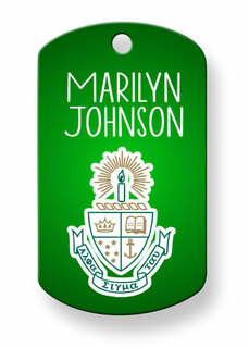 Alpha Sigma Tau Dog Tags