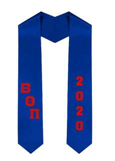 Beta Theta Pi Greek Diagonal Lettered Graduation Sash Stole With Year