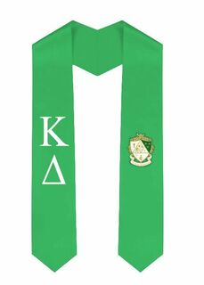 Kappa Delta Greek Lettered Graduation Sash Stole With Crest