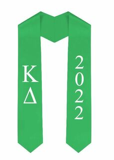 Kappa Delta Greek Lettered Graduation Sash Stole With Year - Best Value