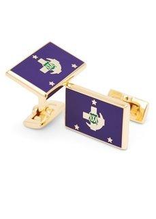 Lambda Chi Alpha Gold Plated Flag Cufflinks