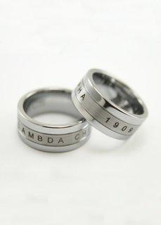 Lambda Chi Alpha Tungsten Ring