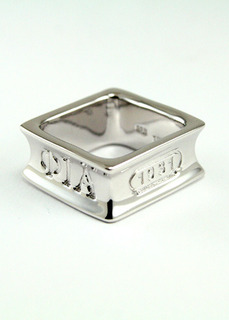 Phi Iota Alpha Sterling Silver Square Ring