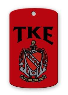 Tau Kappa Epsilon Crest - Shield Dog tag
