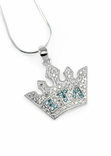 Zeta Tau Alpha Crown Pendant
