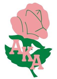 Alpha Kappa Alpha Acrylic Symbol Pin, Rose