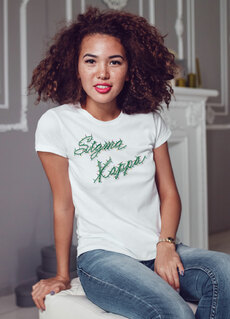 Sorority Christmas Lights Boyfriend Tee
