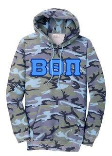 DISCOUNT-Beta Theta Pi Camo Pullover Hooded Sweatshirt