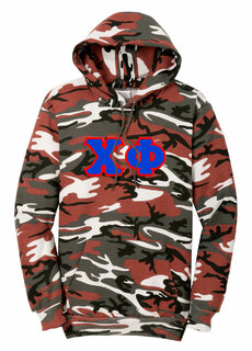 DISCOUNT-Chi Phi Camo Pullover Hooded Sweatshirt