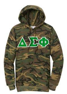 Delta Sigma Phi Camo Pullover Hooded Sweatshirt