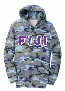 DISCOUNT-FIJI Fraternity Camo Pullover Hooded Sweatshirt