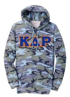 DISCOUNT-Kappa Delta Rho Camo Pullover Hooded Sweatshirt