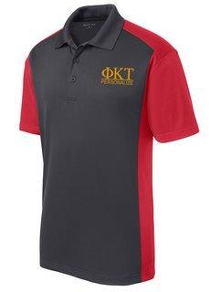 Phi Kappa Tau- $30 World Famous Greek Colorblock Wicking Polo