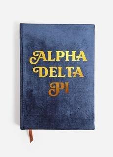 Alpha Delta Pi Velvet Notebook