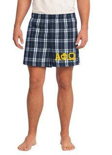 Alpha Phi Omega Flannel Boxer Shorts