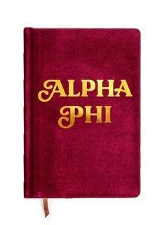 Alpha Phi Velvet Notebook