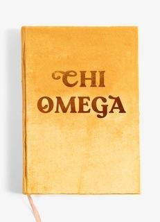 Chi Omega Velvet Notebook
