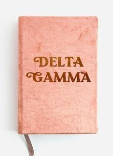 Delta Gamma Velvet Notebook