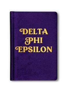 Delta Phi Epsilon Velvet Notebook