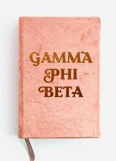 Gamma Phi Beta Velvet Notebook