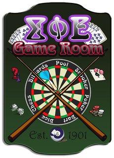 Greek Game Room Sign