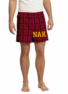 Nu Alpha Kappa Flannel Boxer Shorts