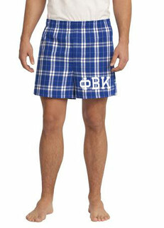 Phi Beta Kappa Flannel Boxer Shorts