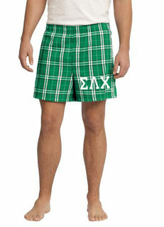 Sigma Lambda Chi Flannel Boxer Shorts
