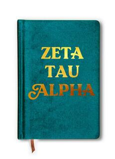 Zeta Tau Alpha Velvet Notebook