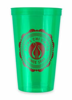 Alpha Chi Omega Old Style Classic Giant Plastic Cup