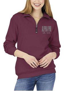 Alpha Phi Established Crosswind Quarter Zip Sweatshirt