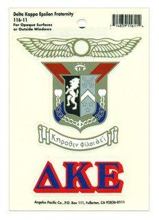 Delta Kappa Epsilon Crest - Shield Decal