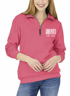 Gamma Phi Beta Established Crosswind Quarter Zip Sweatshirt
