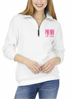Phi Mu Established Crosswind Quarter Zip Sweatshirt