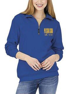 Phi Sigma Sigma Established Crosswind Quarter Zip Sweatshirt