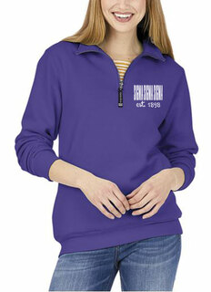 Sigma Sigma Sigma Established Crosswind Quarter Zip Sweatshirt
