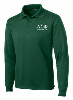 Delta Sigma Phi- $35 World Famous Long Sleeve Dry Fit Polo