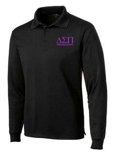 Delta Sigma Pi- $35 World Famous Long Sleeve Dry Fit Polo