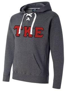 Greek Sport Lace Hooded Sweatshirt