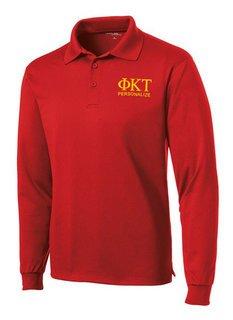 Phi Kappa Tau- $35 World Famous Long Sleeve Dry Fit Polo