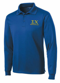 Sigma Chi- $35 World Famous Long Sleeve Dry Fit Polo