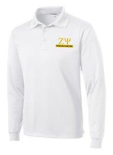Zeta Psi- $30 World Famous Long Sleeve Dry Fit Polo