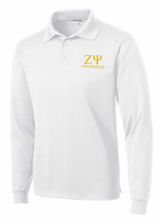 Zeta Psi- $35 World Famous Long Sleeve Dry Fit Polo