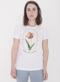Alpha Chi Omega Tulips Bella Favorite Tee