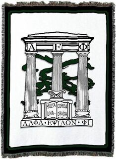 Alpha Epsilon Phi Afghan Blanket Throw