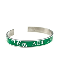Alpha Epsilon Phi Bangle Bracelet