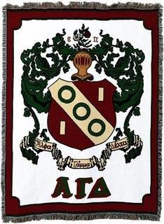 Alpha Gamma Delta Afghan Blanket Throw