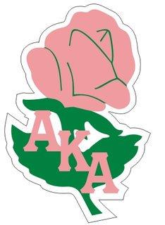 Alpha Kappa Alpha Reflective Sticker, Rose